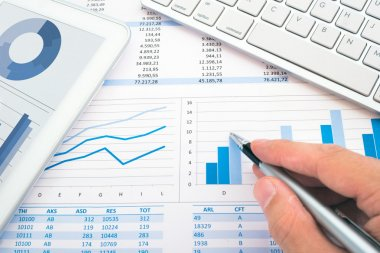 Hand and financial documents