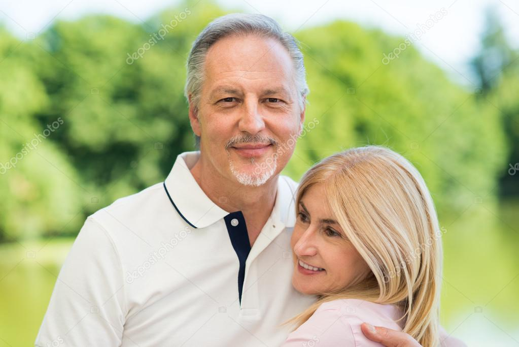 Couple Mature happy mature couple in park — stock photo © minervastock #83553766