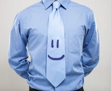 businessman wearing in smiling necktie