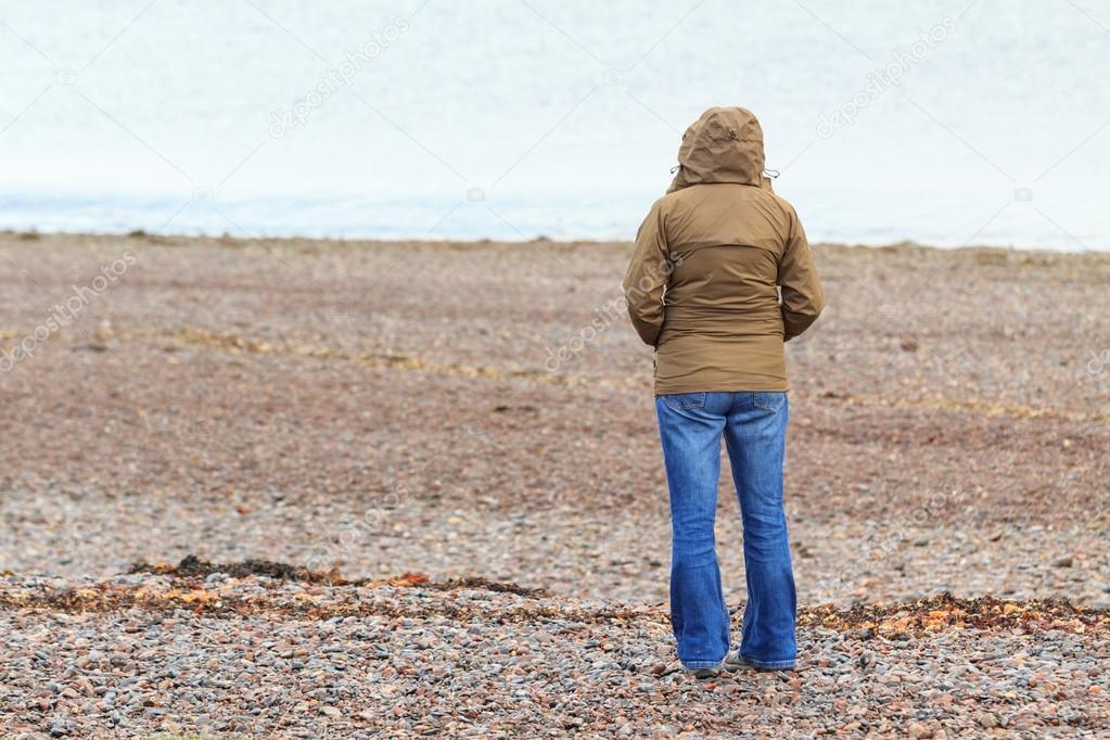 Lonely at the cold beach