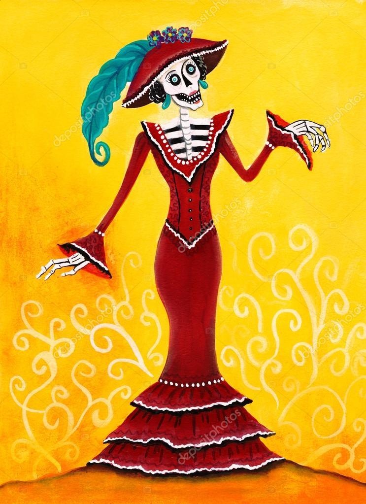 Imágenes Catrinas En Caricatura Día De Muertos Catrina Esqueleto