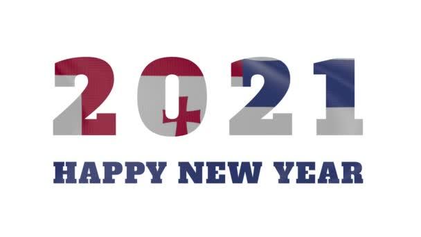 2021 Boldog új évet, Ajaria új évet zászló animáció 2021