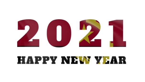 2021 Boldog új évet, Angola új évet zászló animáció 2021