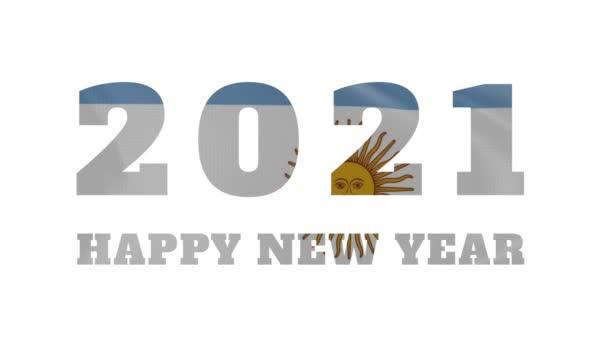 2021 Šťastný nový rok, Argentina Nový rok vlajka animace 2021