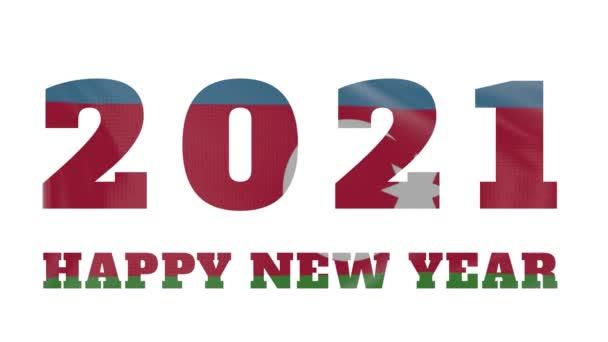2021 Šťastný nový rok, Ázerbájdžán Vlajková animace nového roku 2021