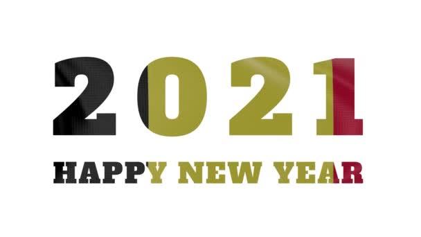 2021 Šťastný nový rok, Belgie Nový rok vlajka animace 2021