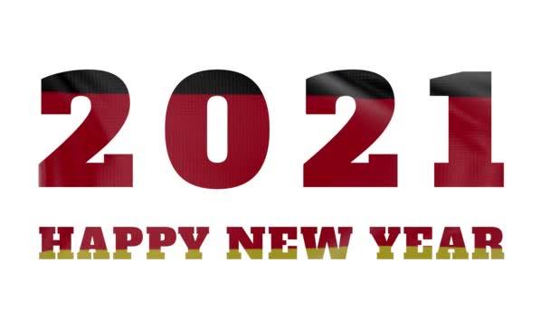 2021 Boldog új évet, Németország új év zászló animáció 2021