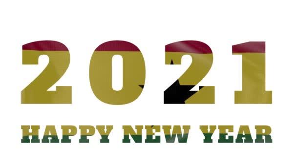 2021 Boldog új évet, Ghána új évet zászló animáció 2021