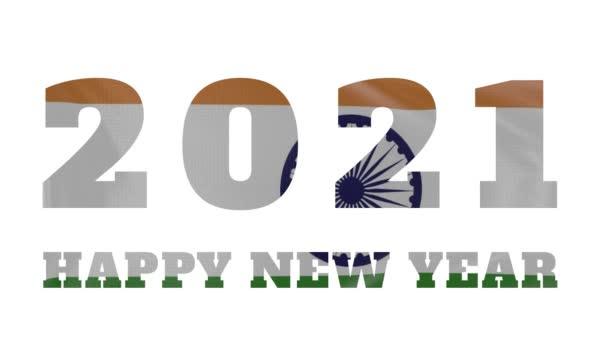 2021 Šťastný nový rok, Indie Nový rok vlajky animace 2021