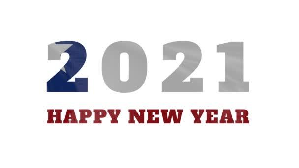 2021 Boldog új évet, Chile új évet zászló animáció 2021