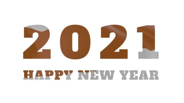 2021 Happy New year, Cyprus new year flag animation 2021