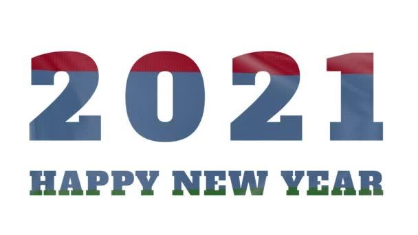 2021 Šťastný nový rok, Karelia Nový rok vlajka animace 2021