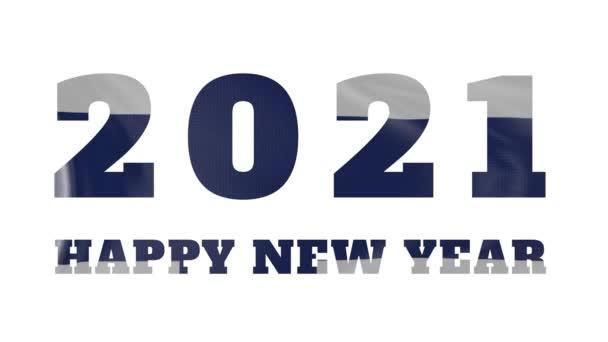 2021 Frohes Neues Jahr, Finnland Neujahr Flaggenanimation 2021