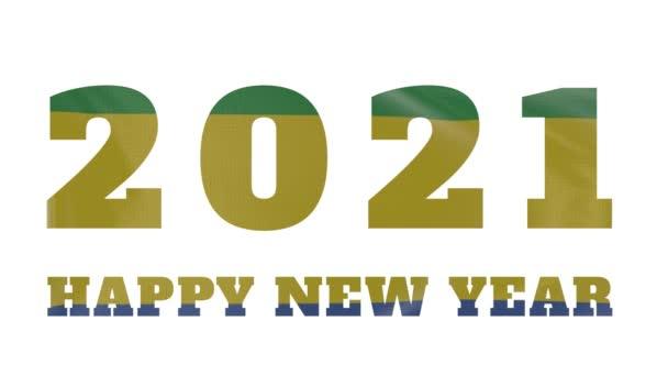 2021 Šťastný nový rok, Gabon Nový rok vlajka animace 2021