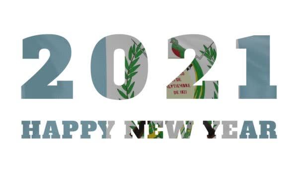 2021 Happy New year, Guatemala new year flag animation 2021