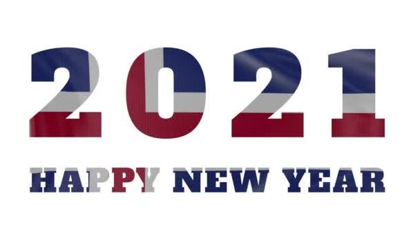 2021 Šťastný nový rok, Island Nový rok vlajka animace 2021