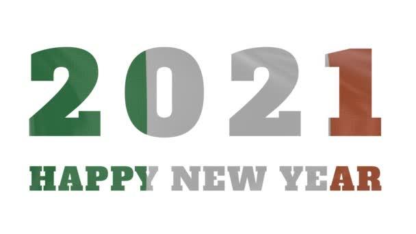 2021 Boldog új évet, Írország új év zászló animáció 2021