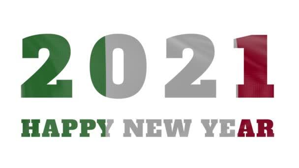 2021 Boldog új évet, Olaszország újév zászló animáció 2021