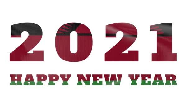 2021 Šťastný Nový rok, Malawi Nový rok vlajková animace 2021