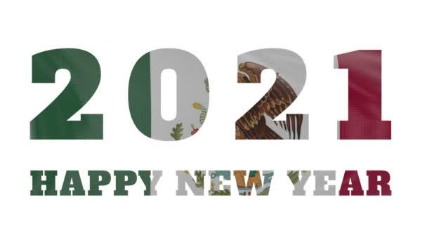 2021 Boldog új évet, Mexikó zászló animáció 2021