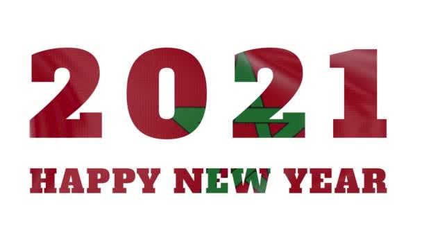 2021 Boldog új évet, Marokkó újév zászló animáció 2021