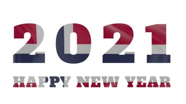 2021 Šťastný Nový rok, Norsko Nový rok vlajková animace 2021