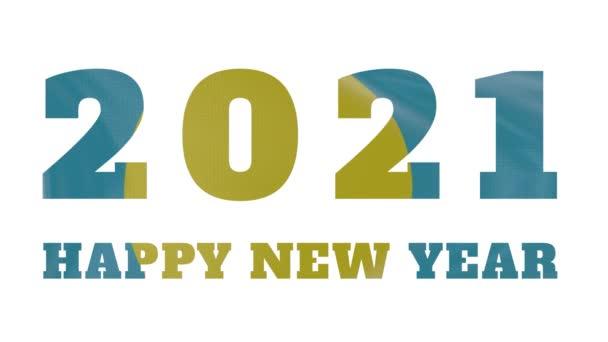 2021 Boldog új évet, Palau új évet zászló animáció 2021