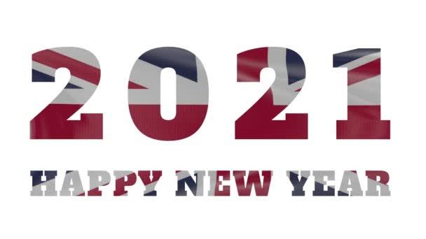 2021 Happy New year, Velká Británie new year flag animation 2021