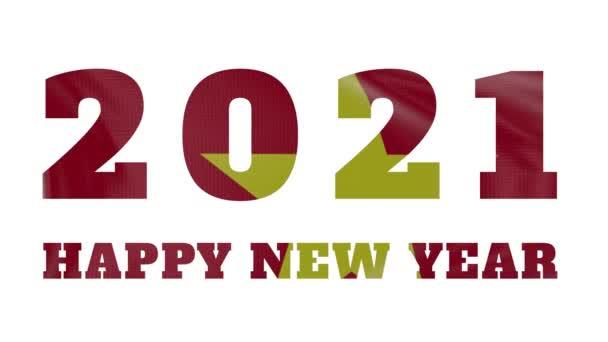 2021 Šťastný Nový rok, Vietnam Nový rok vlajka animace 2021