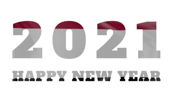2021 Boldog új évet, Jemen új évet zászló animáció 2021
