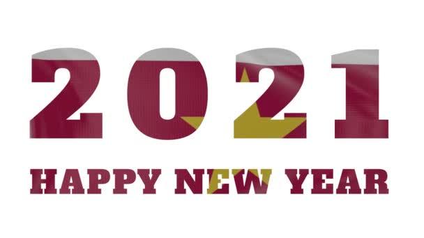 2021 Happy New year, Surinam new year flag animation 2021