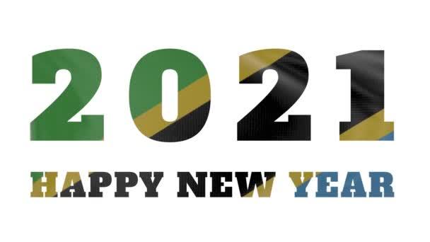 2021 Boldog új évet, Tanzánia új év zászló animáció 2021