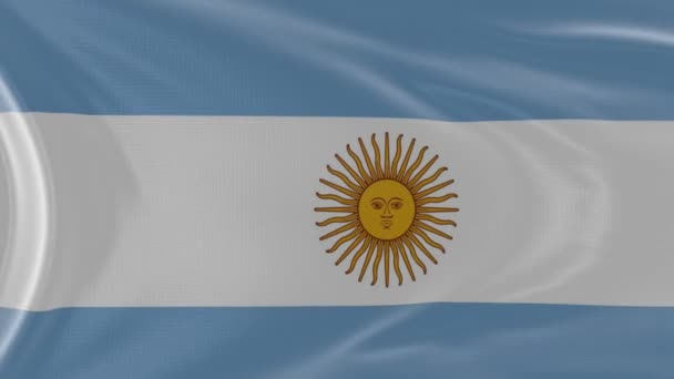 Argentina flag in slow motion animation waving in the wind realistic