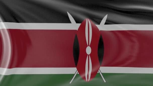 Kenia-Flagge in Zeitlupe im Wind geschwenkt