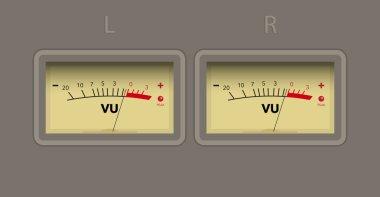 volume unit meter. vector