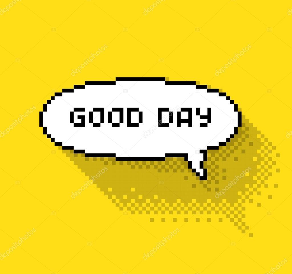 Chmurka Tekstu Z Dzień Dobry Grafika Wektorowa I3alda