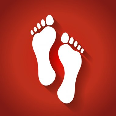 Footprints in flat design