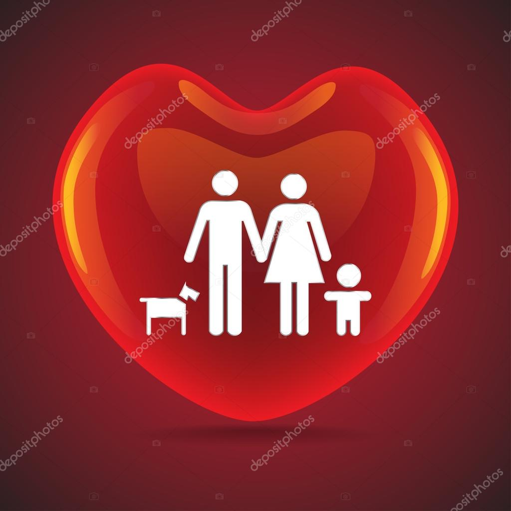 Basic family in big heart symbol stock vector i3alda 53686153 a basic family in big heart symbol illustration vector by i3alda buycottarizona Image collections