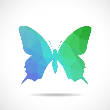 Colorful Polygonal butterfly