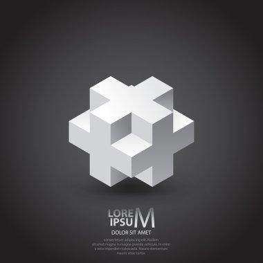 Cube plus logo design