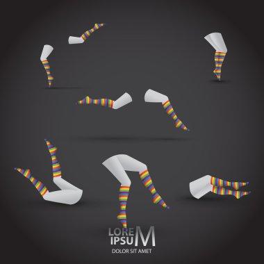 set of Womens legs in socks