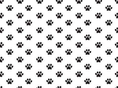 Animal footprints pattern