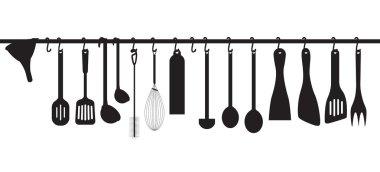Collection kitchen utensils