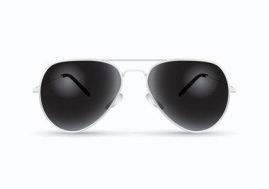 Black pilot sunglasses illustration on white background stock vector