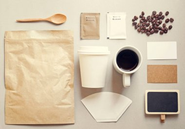 Mockup set of coffee branding
