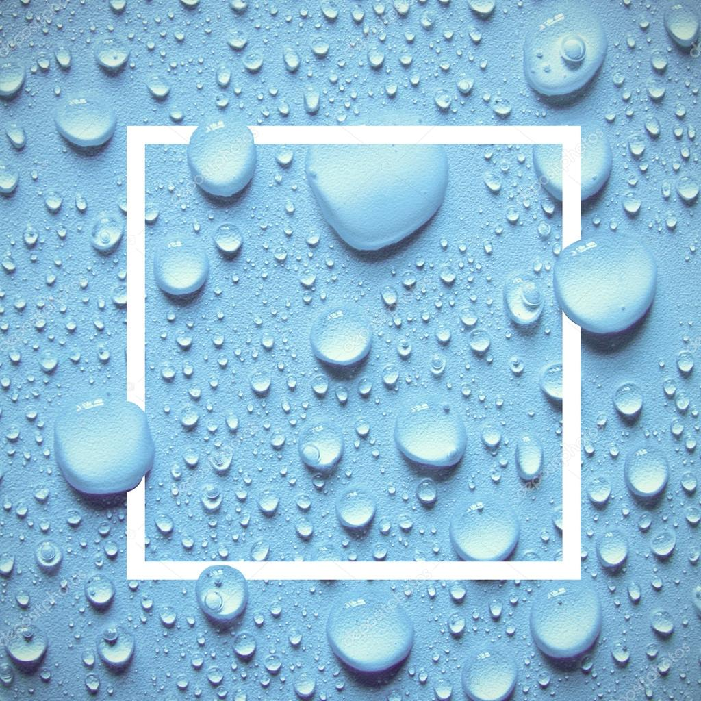 Drops of water design frame template