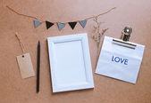 Photo frame makett és aranyos kézműves