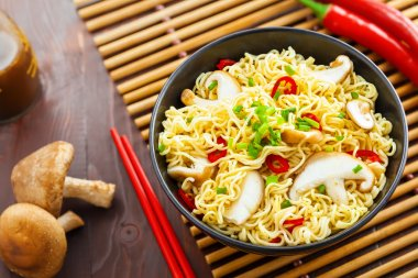 Asian food, instant noodles