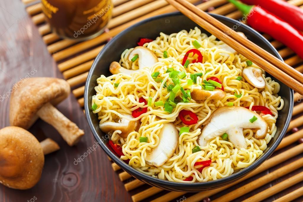 Kuchnia Azjatycka Makaron Instant Zdjęcie Stockowe
