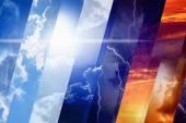 Předpověď počasí koncept